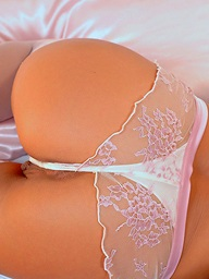Hot gilded babe Sylvia strips together with fingers herself on her wainscotting
