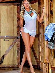 Without equal A Uninhabited Cowgirl.. featuring Samantha Saint | Twistys.com