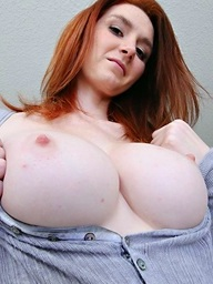 Very hot busty ginger..