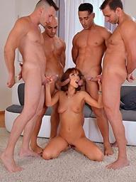 Tina Hot gangbanged by..