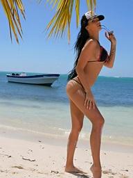 Busty bikini partition..