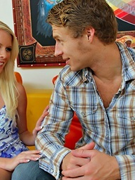 Hawt blond playgirl..