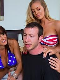 3 sexy busty hotties..