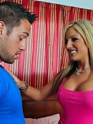 Hot breasty blond has..