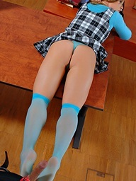 Stockings and sperm for..